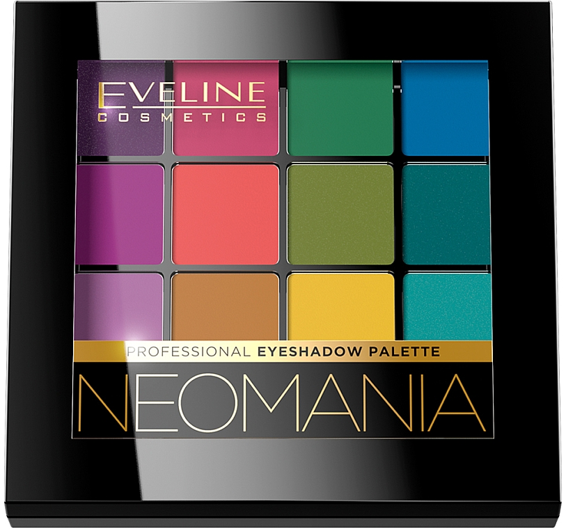 Палетка теней для век - Eveline Cosmetics Professional Eyeshadow Palette Neomania