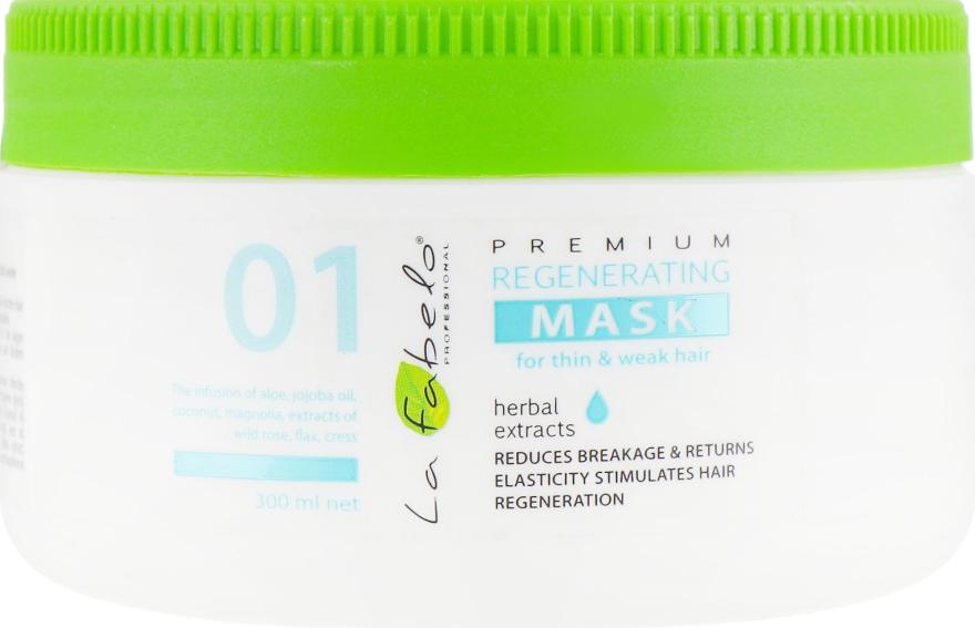 Регенерирующая маска для тонких и слабых волос - La Fabelo Premium 01 Regenerating Mask