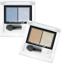 Тени для век - Misslyn High Shine Duo Eyeshadow — фото N1