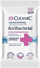 Духи, Парфюмерия, косметика Антибактериальные салфетки, 24 шт - Cleanic Antibacterial Wipes