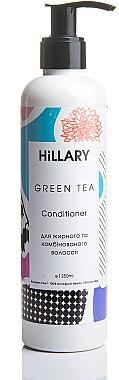 Натуральный шампунь для жирных и комбинированных волос - Hillary Green Tea Shampoo