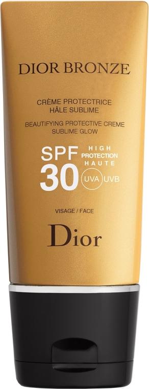 Солнцезащитный крем для лица SPF30 - Dior Bronze Beautifying Protective Creme Sublime Glow