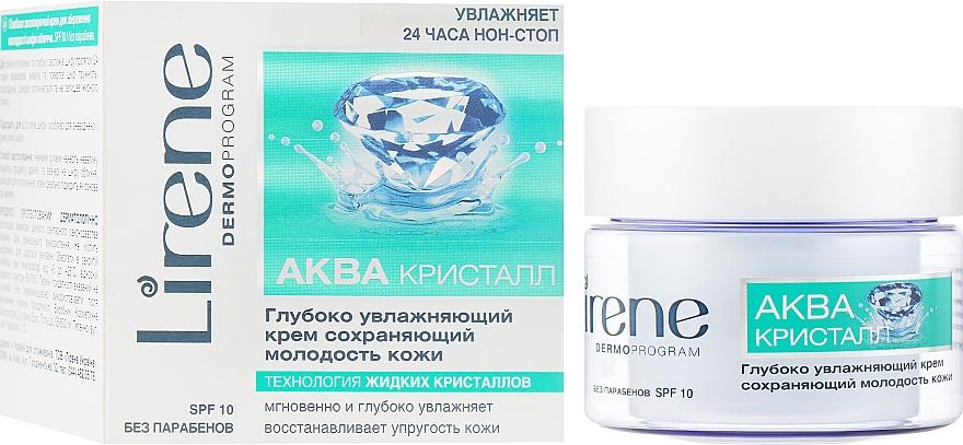 Глубоко увлажняющий крем сохраняющий молодость кожи - Lirene Aqua Cristal Intensively Moisturising Cream SPF 10
