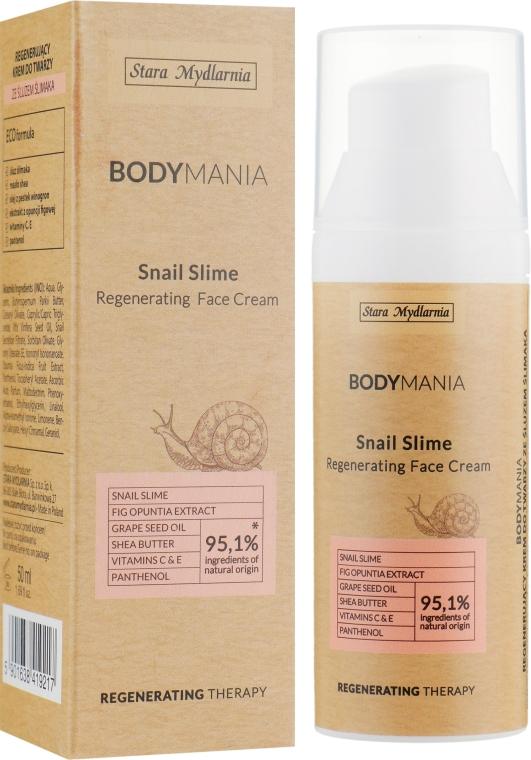 Регенерирующий крем для лица с фильтратом слизи улитки - Stara Mydlarnia Body Mania Snail Slime Regenerating Face Cream