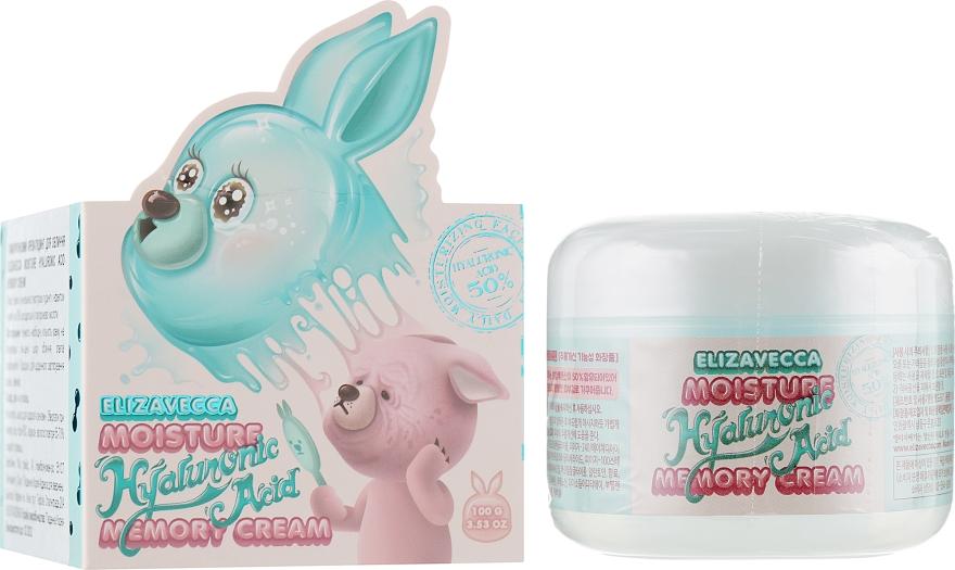 Гиалуроновый крем-пудинг для лица - Elizavecca Moisture Hyaluronic Acid Memory Cream
