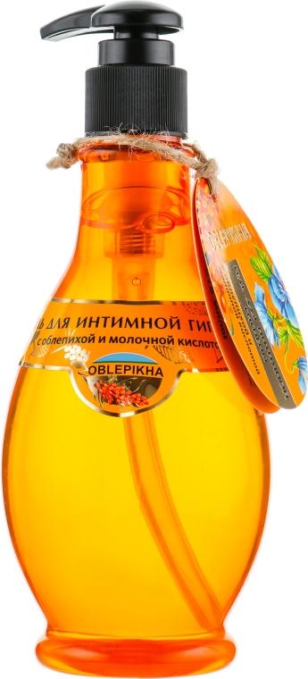 Гель для интимной гигиены с облепихой и молочной кислотой - Oblepikha