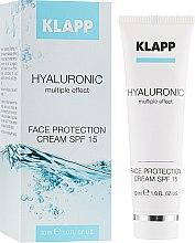 Духи, Парфюмерия, косметика Крем для лица - Klapp Hyaluronic Face Protection Cream SPF15