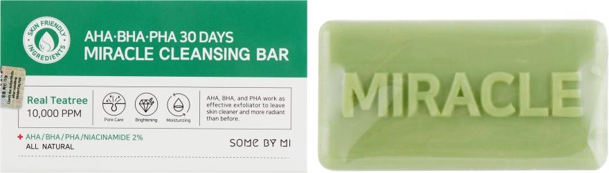 Мыло для лица - Some By Mi AHA/BHA/PHA 30 Days Miracle Cleansing Bar