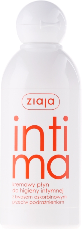 Кремовая жидкость для интимной гигиены с аскорбиновой кислотой - Ziaja Intima