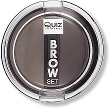 Духи, Парфюмерия, косметика Тени-пудра для бровей - Quiz Cosmetics Brow Set