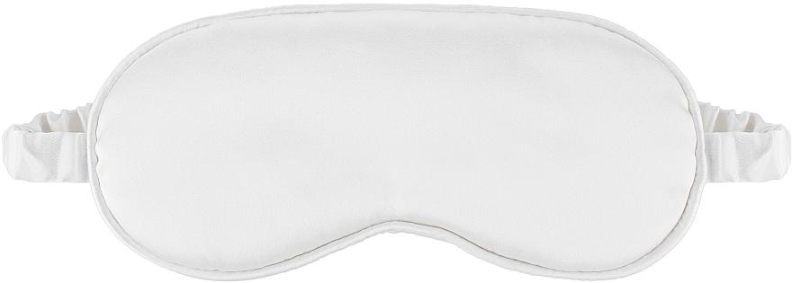 "Маска для сна из натурального шелка, молочная ""Sleepy"" - Makeup Sleep Mask Milk"