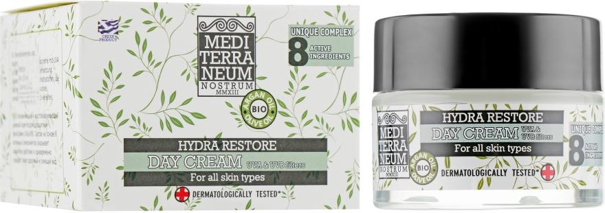 Дневной крем для лица с УФ-фильтрами - Mediterraneum Nostrum Face Hydra Restore Day Cream SPF 15