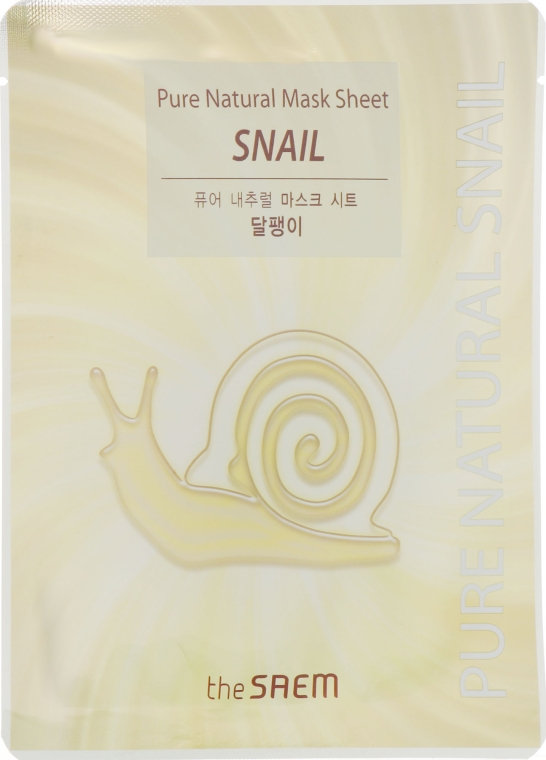 Маска для лица тканевая с муцином улитки - The Saem Pure Natural Mask Sheet Snail