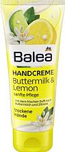 Духи, Парфюмерия, косметика Крем для рук с лимонным маслом - Balea Hand Creme Buttermilk & Lemon