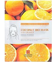 Духи, Парфюмерия, косметика Увлажняющая маска «Апельсин» - Leader Coconut Bio Mask With Orange