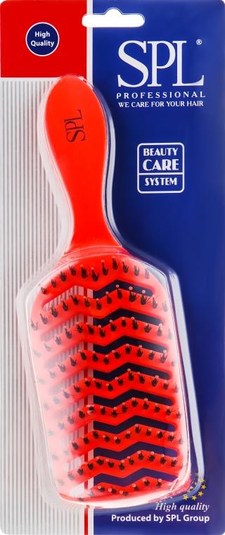 Щетка массажная, 2371, неоново-оранжевая - SPL Hair Brush
