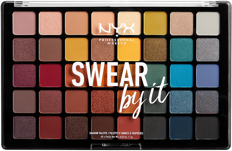 Палетка теней - NYX Professional Makeup Swear By It Shadow Palette