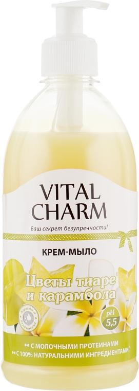 """Крем-мыло с дозатором """"Цветы тиаре и карамболь"""" - Vital Charm"""