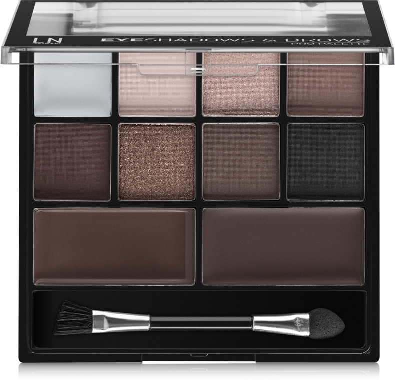 Палетка для макияжа глаз - LN Professional Eyeshadows & Brows Pro Palette Kit