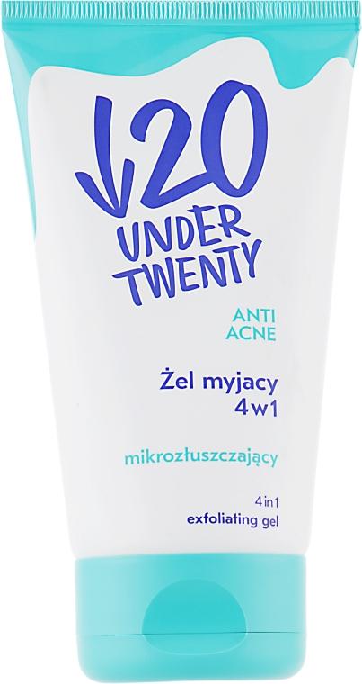 Отшелушивающий гель для умывания 4 в 1 - Under Twenty Anti! Acne Cleansing Gel 4 in 1
