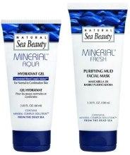 Духи, Парфюмерия, косметика Набор - Natural Sea Beauty Mineral Aqua (gel/60ml + mask/100ml)