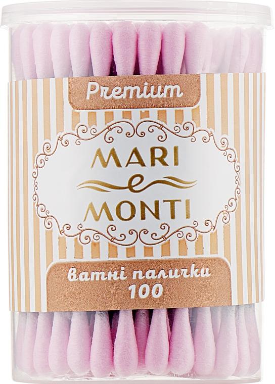 Ватные палочки, черные с розовым - Mari E Monti