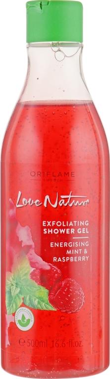"Отшелушивающий гель для душа ""Малина и мята"" - Oriflame Love Nature Shower Gel"