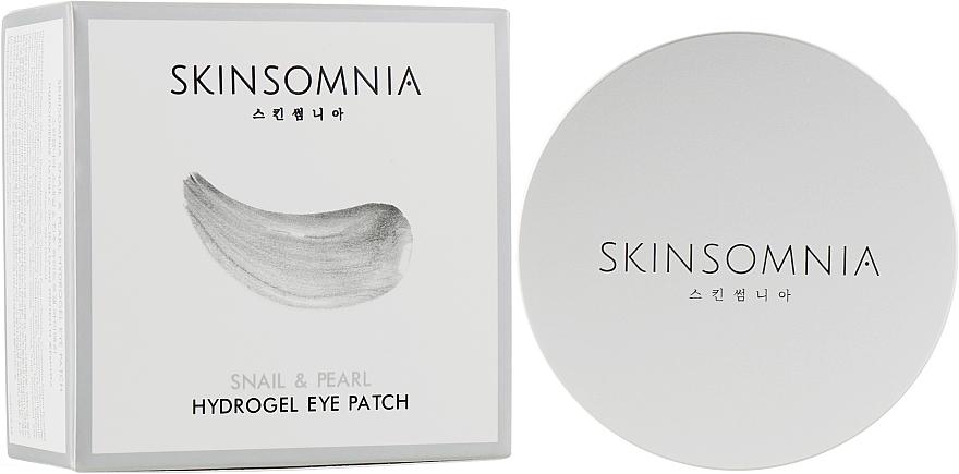 Гидрогелевые патчи с улиткой и жемчугом - Jkosmec Skinsomnia Snail & Pearl Hydrogel Eye Patch