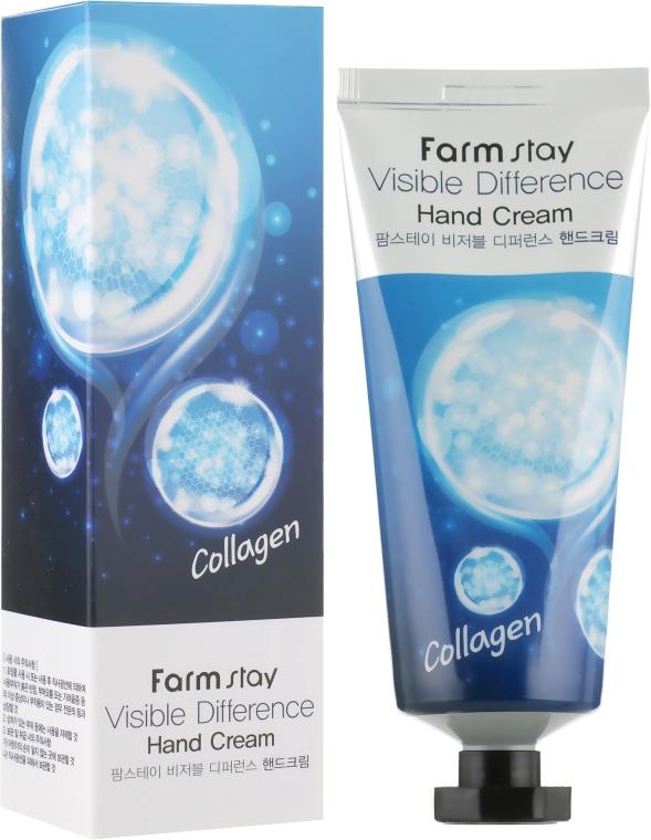 Крем для рук с коллагеном - Farmstay Visible Difference Hand Cream