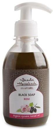 Жидкое черное мыло с маслом розы - Beaute Marrakech Rose Black Liquid Soap