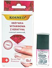 Духи, Парфюмерия, косметика Витаминный лак для ногтей с кератином - Kosmed Colagen Nail Protection 10in1