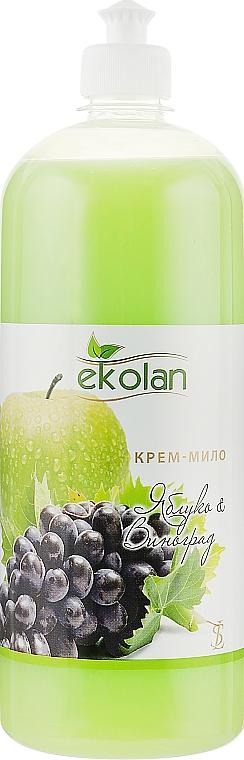 "Крем-мыло ""Яблоко-виноград"", пуш-пул - Ekolan"