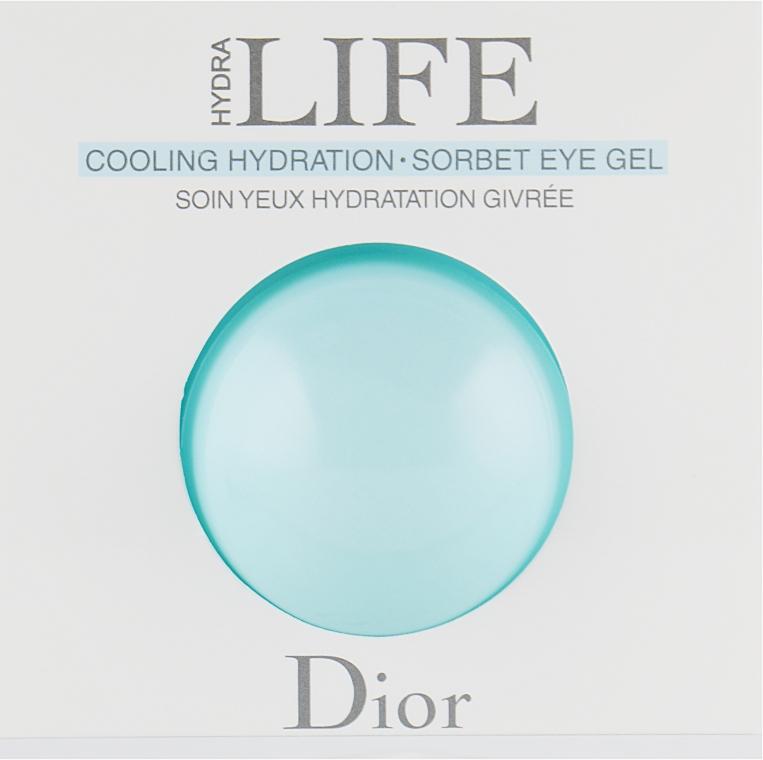 Гель-сорбет для контура глаз - Dior Hydra Life Cooling Hydration Sorbet Eye Gel (пробник)