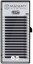 Духи, Парфюмерия, косметика Ресницы для наращивания, 16 линий, С 0,07 MIX 2 - Mayamy Silk