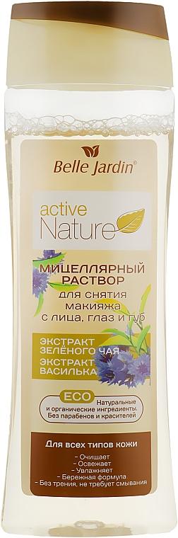 Мицеллярный раствор для макияжа с лица, глаз и губ - Belle Jardin Active Nature Eco