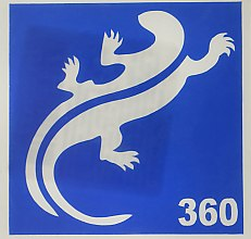 Духи, Парфюмерия, косметика Трафарет для боди-арта, 6х6 см, 360 - Biofarma