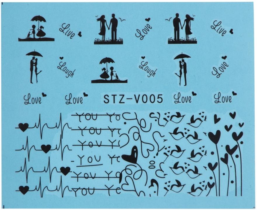 Водные наклейки для ногтей, STZV - Vizavi Professional