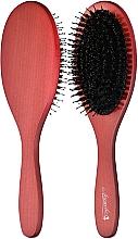 Духи, Парфюмерия, косметика Щетка деревянная с комбинированной щетиной, 25 см, темная - Ласковая