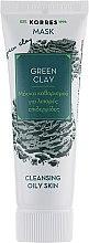 Духи, Парфюмерия, косметика Очищающая маска для жирной кожи с зеленой глиной - Korres Green Clay Cleansing Mask For Oily Skin