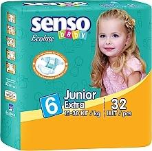 Духи, Парфюмерия, косметика Подгузники Ecoline Junior Extra 6 (15-30 кг), 32 шт - Senso Baby