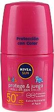 Духи, Парфюмерия, косметика Солнцезащитный детский лосьон - Nivea Sun Kids Protect & Care Coloured Roll-on Pink SPF 50+