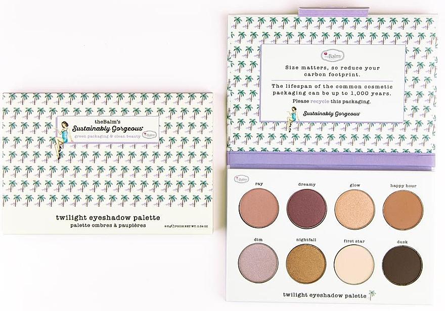 Палетка теней для век - TheBalm Sustainably Gorgeous 8-well Eyeshadow Palette