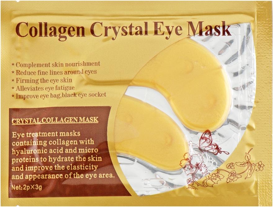 Антивозрастные гидрогелевые патчи под глаза против морщин с коллагеном и золотом - Veronni Collagen Crystal Eye Mask