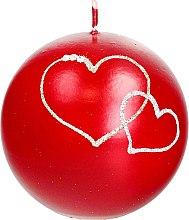 Духи, Парфюмерия, косметика Декоративная свеча красный шар, 10см - Artman Forever