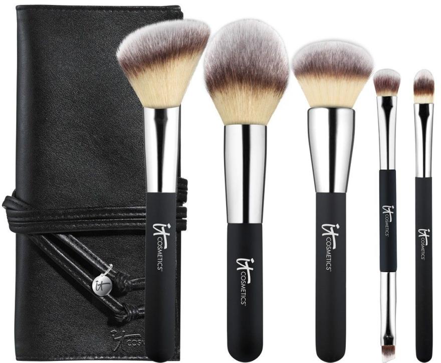 Набор кистей для макияжа - It Cosmetics Heavenly Luxe Must-Haves! Brush Set & Case (brush/5pc + folder) — фото N1