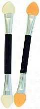 Парфумерія, косметика Аплікатори для тіней, двосторонні, SA-12, 8 см., 10 шт., чорні - Silver Style