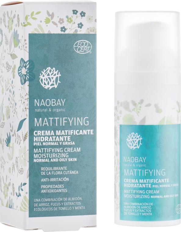 Матирующий крем для лица - Naobay Mattifying Cream