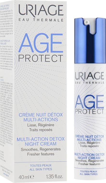 Ночной детокс-крем очищение+коррекция - Uriage Age Protect Multi-Action Detox Night Cream