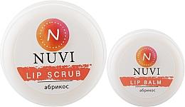 "Духи, Парфюмерия, косметика Подарочный набор для губ ""Абрикос"" - Nuvi (lip/balm/10g + lip/scrub/20g)"