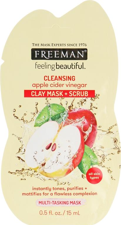 "Маска для лица 4 в 1 ""Уксус яблочного сидра"" - Freeman Feeling Beautiful Mask"